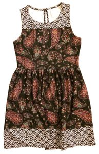 Xhilaration short dress black & white with colorful paisley Pattern Stretchy on Tradesy