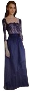 Rickie Freeman for Teri Jon Rehearsal Dinner Lace Lined Full Length Black Tie Dress