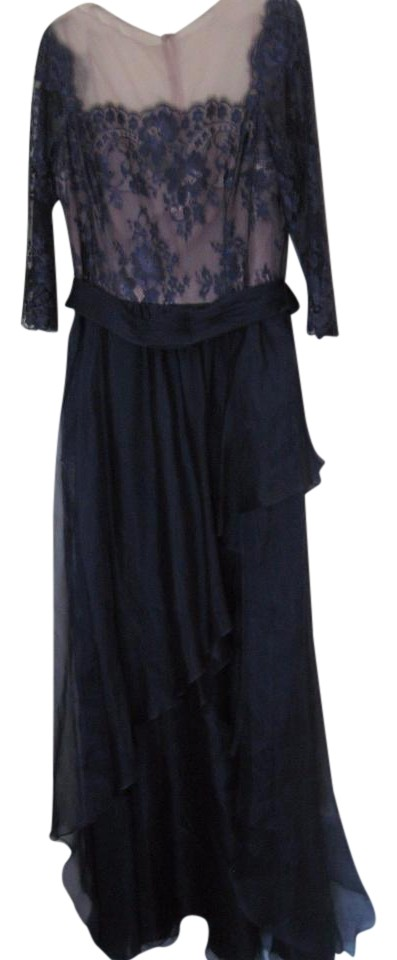 Rickie Freeman for Teri Jon Violet Blue By Lace-top Chiffon Gown ...
