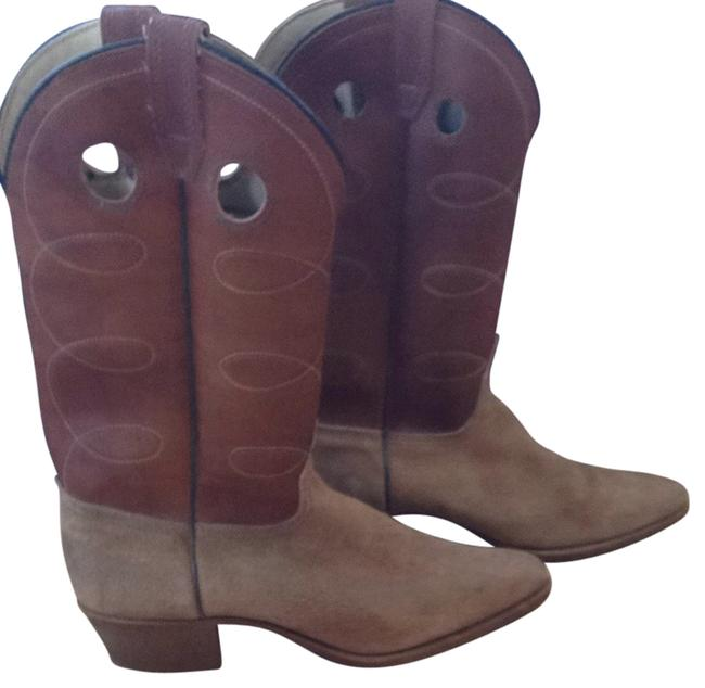 Item - Tan and Brown Suede Leather Boots/Booties Size US 9 Regular (M, B)