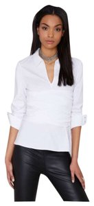 Nasty Gal Button Down Shirt White