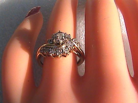 Other 10k Yellow Gold Vintage Diamond Ring Image 2
