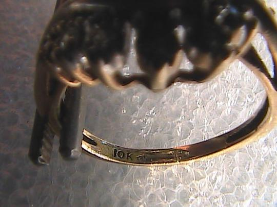 Other 10k Yellow Gold Vintage Diamond Ring Image 6