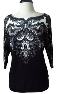 White House | Black Market Paisley Dolman Sweater