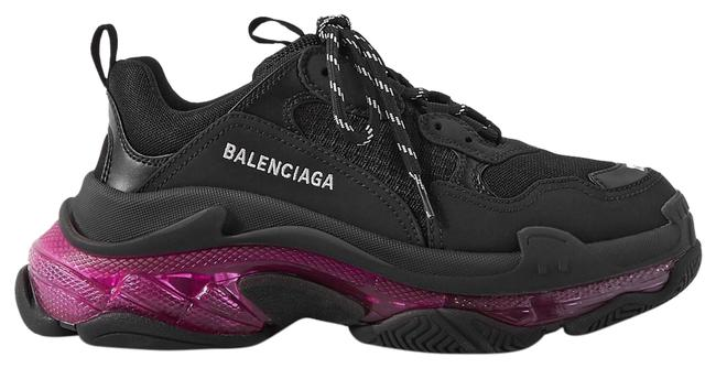 Item - Black and Pink Eu34/36/38/39/41 Triple S Clear Sole Sneakers Size EU 38 (Approx. US 8) Regular (M, B)