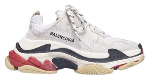 Balenciaga White Black Red Athletic