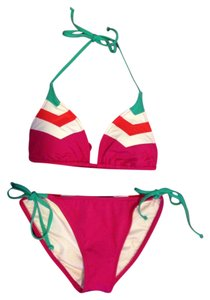 Becca by Rebecca Virtue Chevron Color Block Bikini