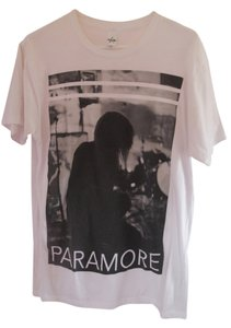 Hot Topic Paramore T-shirt Graphic T-shirt Graphic Love Cheap Cute Rock Band Haley Williams Bands T Shirt Black and White