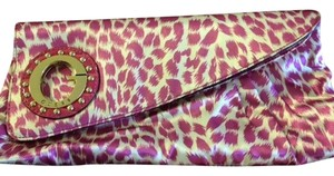 Guess Satin Girlsnightout Stud Sexy pink/leopard Clutch