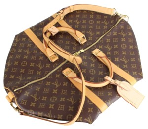 Louis Vuitton Lv Keepall Bandouliere Keepall 50 Bandouliere Mm Monogram Lv Keepall Travel Luggage Hand Luggage Duffle Messenger Lv Brown Travel Bag