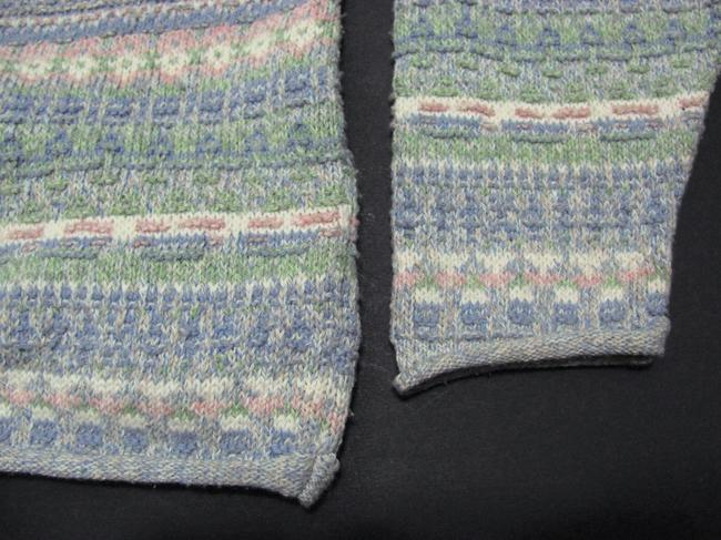 Alps Knit Sweater Green Purple Beige Nordic Made In Usa Women M Medium 8 10 Aztec Cotton Bird Buttoned Pewter Silver Cardigan Image 4