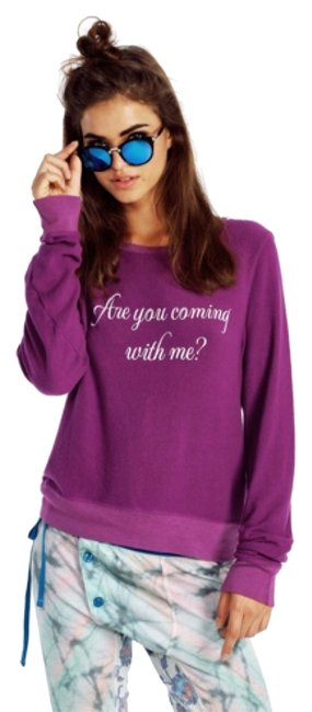 Preload https://img-static.tradesy.com/item/8401354/wildfox-purple-come-with-me-sweatshirthoodie-size-8-m-0-2-650-650.jpg