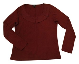 Talbots Oxblood Burgundy Top Dark Red