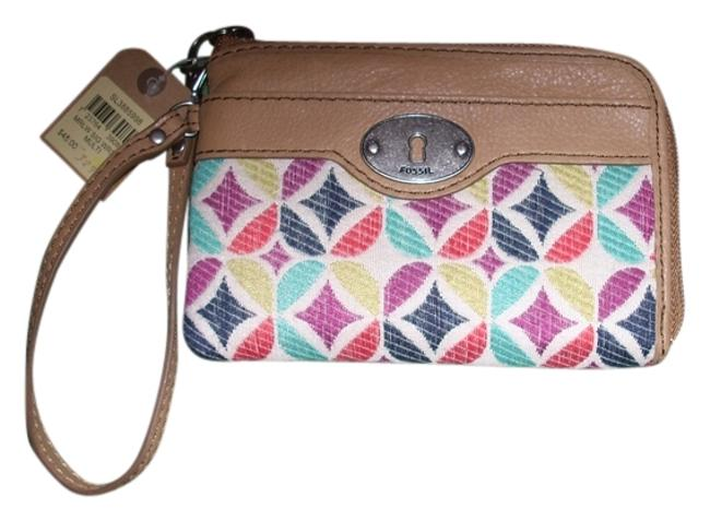Item - Key-per Multicolor Canvas and Leather Wristlet