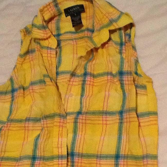 Lauren Ralph Lauren Button Down Shirt Yellow