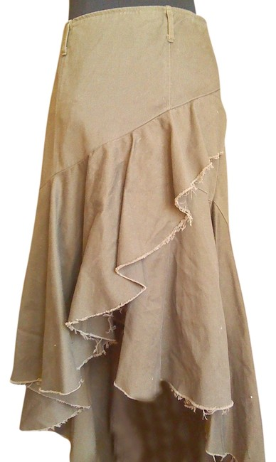 Double Zero Date Night Cotton Skirt olive