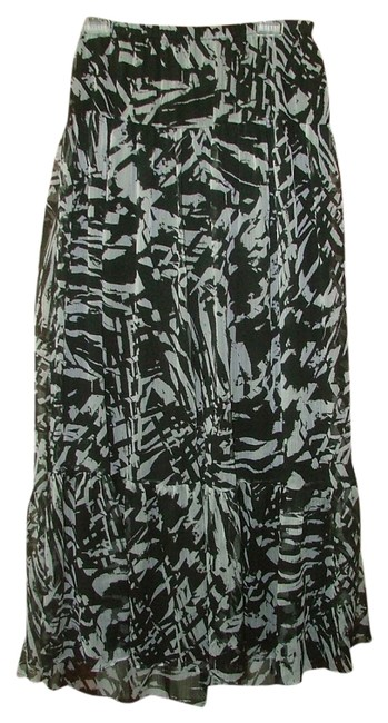 Other Tiered Boho Hollywood Skirt Black White