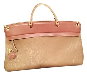 Furla Leather New Dual Color Italy Tote in BROWN