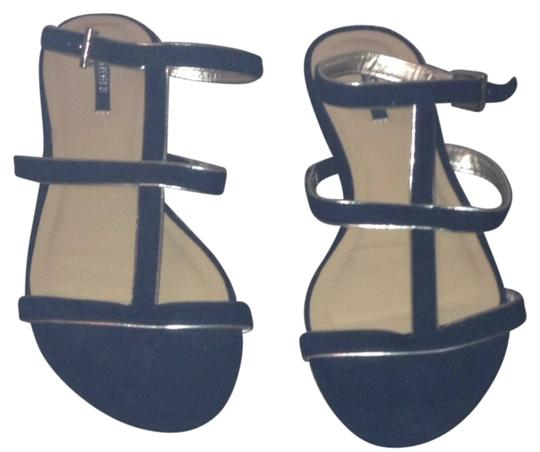 Forever 21 Black And Gold Sandals