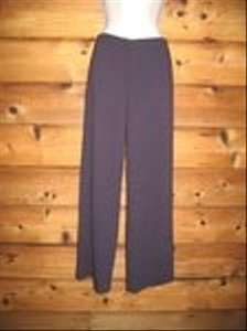 Eileen Fisher Wool Blend Wide-leg Petites Wide Leg Pants Eggplant Purple