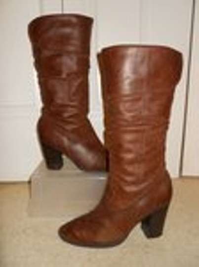 Style & Co Leather brown Boots Image 1