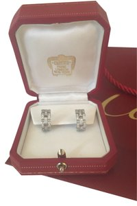 Cartier White gold Diamond Cartier Earrings with Papers