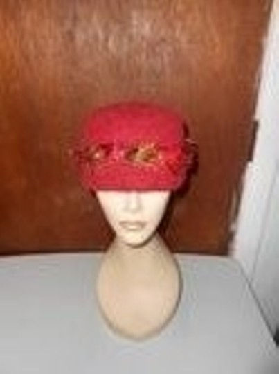 Other Womens Wool Dark Cranberry Red Fall Colors Artisan Winter Hat Image 4