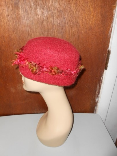Other Womens Wool Dark Cranberry Red Fall Colors Artisan Winter Hat Image 5