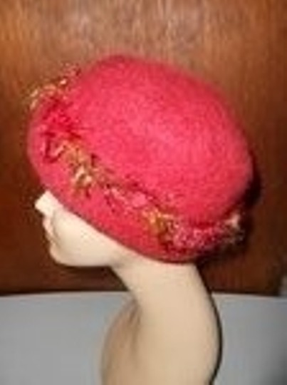 Other Womens Wool Dark Cranberry Red Fall Colors Artisan Winter Hat Image 6