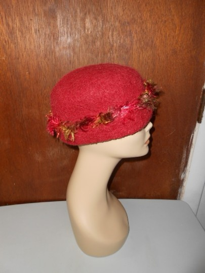 Other Womens Wool Dark Cranberry Red Fall Colors Artisan Winter Hat Image 7