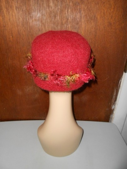 Other Womens Wool Dark Cranberry Red Fall Colors Artisan Winter Hat Image 8