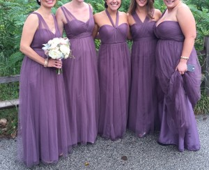 BHLDN Soft Plum Tulle Annabelle Formal Bridesmaid/Mob Dress Size 4 (S)