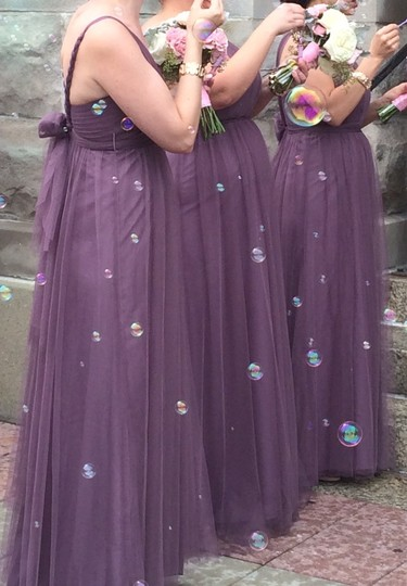 BHLDN Soft Plum Tulle Annabelle Formal Bridesmaid/Mob Dress Size 4 (S) Image 1