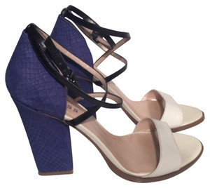 Guess By Marciano White, Black and Royal Blue Sandals