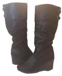 Bronx Leather Winter Snow Black Boots