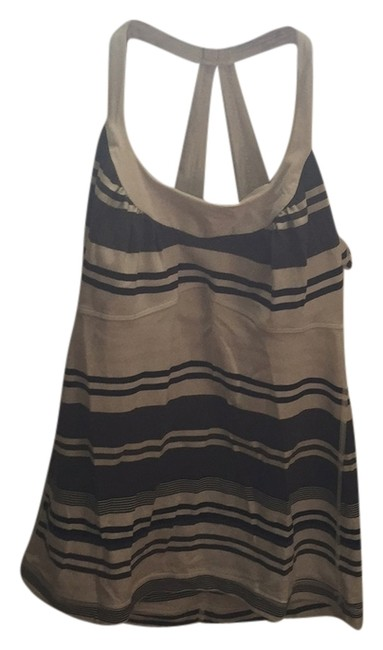 Item - Multi-striped Scoop Neck Activewear Top Size 8 (M, 29, 30)