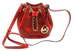 Michael Kors Frankie Drawstring Leather Mini Cross Body Bag