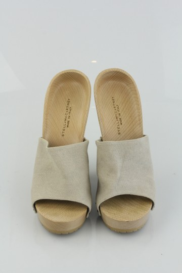 Stella McCartney Wedges Wood Summer Casual Nude Sandals