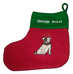 Restoration Hardware Dog Christmas Stocking Good Dog Bad Dog Restoration Hardware