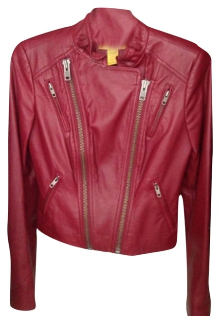 Item - Rose Red Motorcycle Jacket Size 2 (XS)