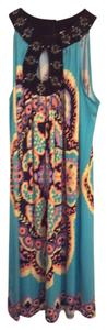 Ice short dress turquoise/multi on Tradesy
