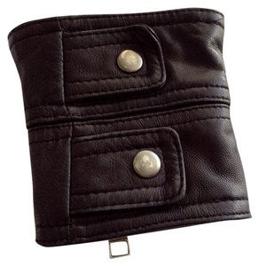 Nicole Mighty Designs Genuine Black Leather Cuffs