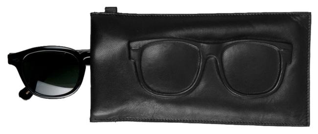 Item - Black 'ray' Pouch Sunglasses