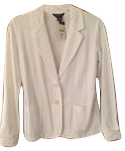 Eddie Bauer Cotton Knit Classic Hamptons Machine Washable Daytime Night Out Date Night Casual White Blazer