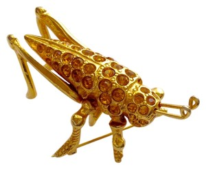 Gold Cricket Pin