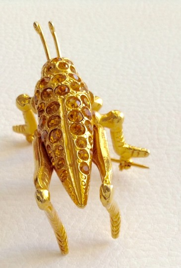 Other Gold Cricket Pin Image 4