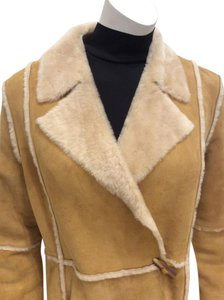 Anne Klein Knee Length Suede Coat
