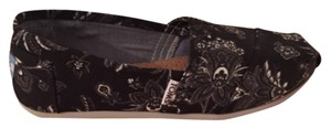 Toms black and white floral patterned flats Flats