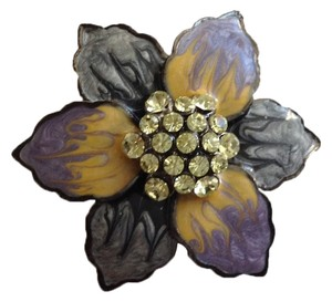 Enamel and Rhinestone Pin
