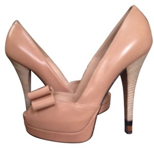 Fendi Double Platform Nude Pumps